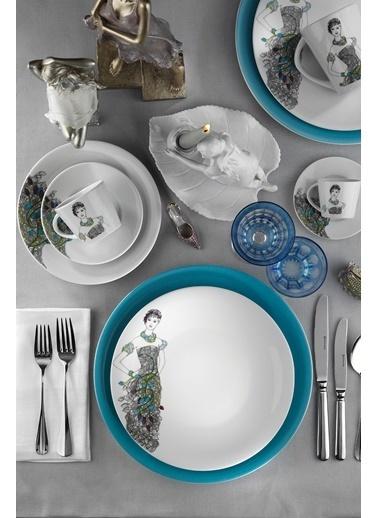 Kütahya Porselen Kadınlarım Serisi 9440 Desen 24 Parça Yemek Seti Renkli